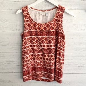 Printed Chico's Tank Top
